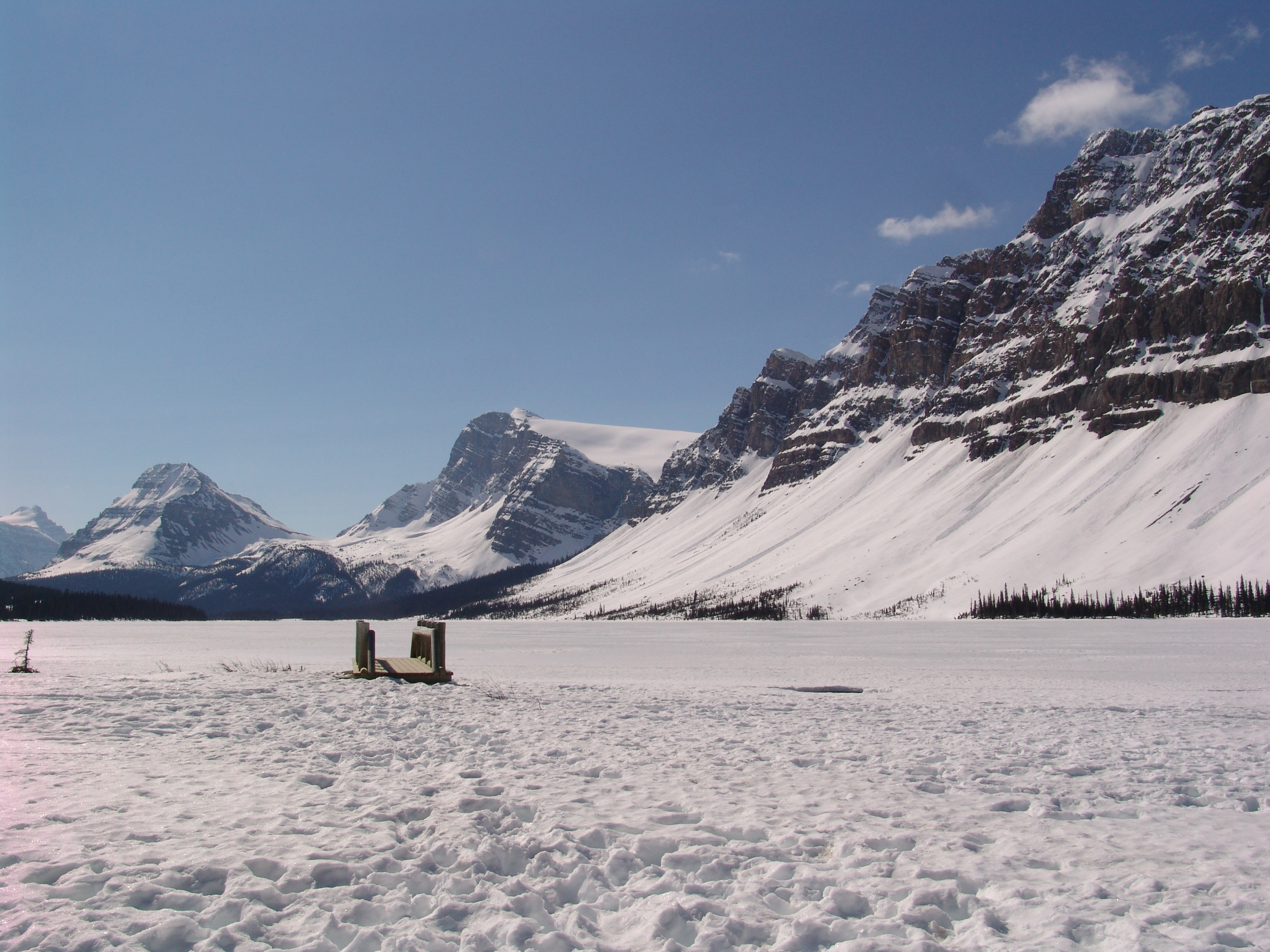 絶景の雪山
