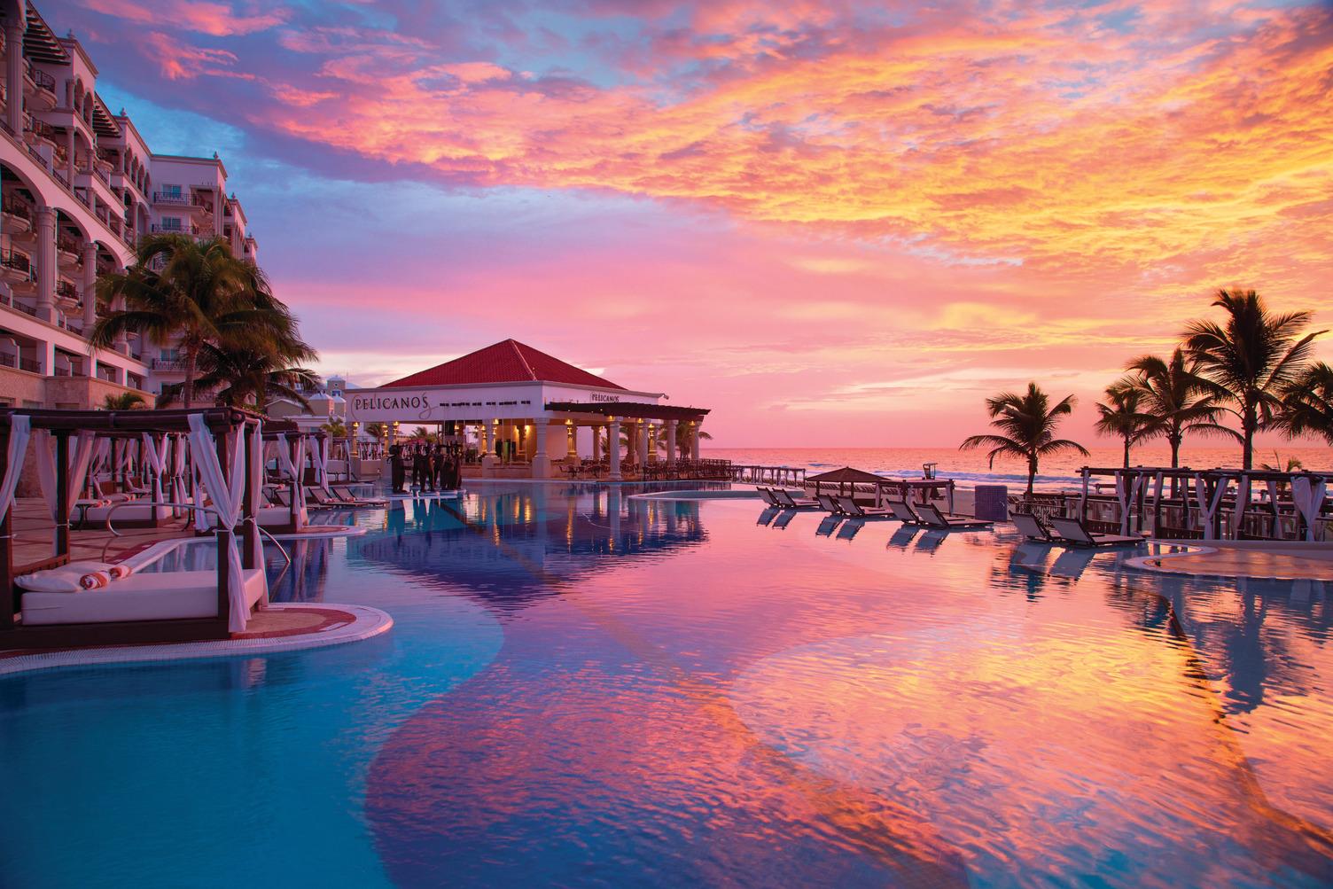 Hyatt-Zilara-Cancun-Main-Pool-Sunset